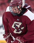 David Cotton (BC - 17) - The Boston College Eagles practiced at Fenway on Friday, January 6, 2017, in Boston, Massachusetts.