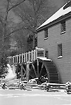 Colvin Run Mill Grist mill in snow Commonwealth of Virginia, Colvin Run Mill, grist mill, mill, grist, Grist Mill in Virginia Snow, Black and White Photographs, Black & White Photo's, B&W Photographs,  B&W, Black and White, Fine Art Photography, photography, photo, creative, creative vision, vision, artist, photographs fulfill a creative vision of artist, artist,Fine Art Photography by Ron Bennett, Fine Art, Fine Art photography, Art Photography, Copyright RonBennettPhotography.com ©