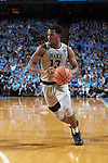 Bryant Crawford (13) of the Wake Forest Demon Deacons on offense during first half action against the North Carolina Tar Heels at the Dean Smith Center on December 30, 2017 in Chapel Hill, North Carolina.  The Tar Heels defeated the Demon Deacons 73-69.  (Brian Westerholt/Sports On Film)