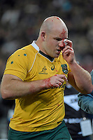 Wallabies' Stephen Moore in action during the All Blacks v Wallabies. The Rugby Championship &amp; Bledisloe Cup at Westpac Stadium, Wellington, New Zealand on Saturday 27 August 2016.<br /> Photo by Masanori Udagawa. <br /> www.photowellington.photoshelter.com.