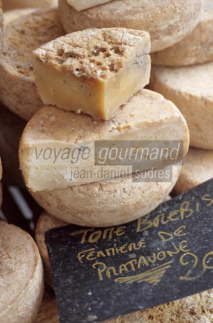 Europe/France/Corse/2A/Corse-du-Sud/Ajaccio: Tome de brebis corse de Pratavone sur le marché