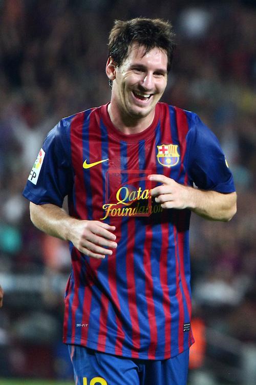 Lionel Messi. FC Barcelona vs Osasuna: 8-0 (League BBVA 2011/12 - Season 4).