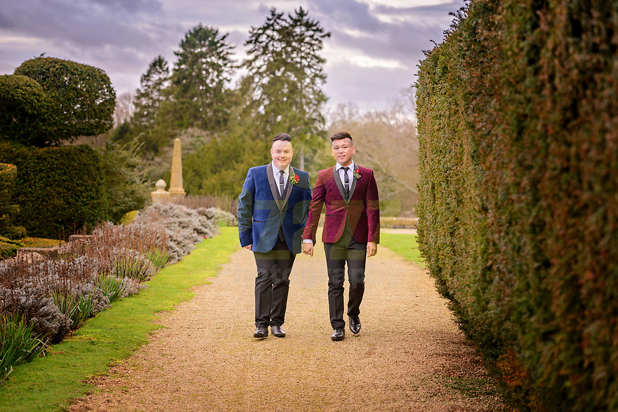 Gay wedding at Eynsham Hall