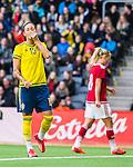 ****BETALBILD**** <br /> Stockholm 2015-04-08 Fotboll Landskamp Damer , Sverige - Danmark :  <br /> Sveriges Therese Sj&ouml;gran deppar efter ett avslut mot m&aring;l under matchen mellan Sverige och Danmark <br /> (Photo: Kenta J&ouml;nsson) Keywords:  Sweden Sverige Denmark Danmark Landskamp Dam Damer Tele2 Arena Stockholm depp besviken besvikelse sorg ledsen deppig nedst&auml;md uppgiven sad disappointment disappointed dejected