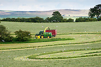 Forage harvesting grass, West Marton, North Yorkshire.