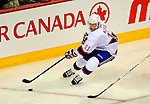 15 November 2008:  Montreal Canadiens' center and Team Captain Saku Koivu from Finland swings behind the net, carrying the puck against the Philadelphia Flyers in the third period at the Bell Centre in Montreal, Quebec, Canada.  The Canadiens, celebrating their 100th season, fell to the visiting Flyers 2-1. ***Editorial Sales Only***..Mandatory Photo Credit: Ed Wolfstein Photo *** Editorial Sales through Icon Sports Media *** www.iconsportsmedia.com