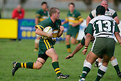 F. Hodgeson braces as he meets the Manurewa tacklers. Counties Manukau Premier Club Rugby, Pukekohe v Manurewa  played at the Colin Lawrie field, on the 17th of April 2006. Manurewa won 20 - 18.