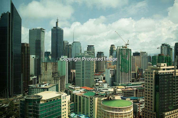 An aerial view of Makati area of Manila, Philippines. Photo: Sanjit Das