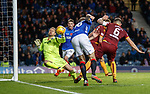 11.11.18 Rangers v Motherwell: Trevor Carson saves from Gareth McAuley