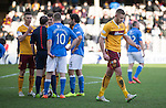 Motherwell v St Johnstone...31.01.15    SPFL<br /> Ref Willie Collum sends off Louis Laing<br /> Picture by Graeme Hart.<br /> Copyright Perthshire Picture Agency<br /> Tel: 01738 623350  Mobile: 07990 594431