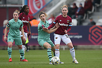 Vivianne Miedema of Arsenal and Lucienne Reichardt of West Ham during West Ham United Women vs Arsenal Women, FA Women's Super League Football at Rush Green Stadium on 6th January 2019