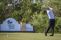 Martin Piller (USA) watches his tee shot on 15 during Round 1 of the Valero Texas Open, AT&amp;T Oaks Course, TPC San Antonio, San Antonio, Texas, USA. 4/19/2018.<br /> Picture: Golffile | Ken Murray<br /> <br /> <br /> All photo usage must carry mandatory copyright credit (&copy; Golffile | Ken Murray)