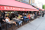 Washington DC; USA: Dupont Circle area, noted for its fountain, street musicians, bookstores, shops, embassies, and brick houses.  Restaurant Afterwords at Kramerbooks..Photo copyright Lee Foster Photo # 21-washdc79613