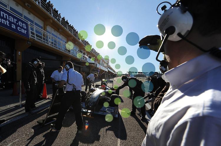 F1 Test Valencia 01.-03. Feb. 2010.Michael Schumacher (GER), Mercedes GP ..Picture: Hasan Bratic/universal News And Sport (Europe)