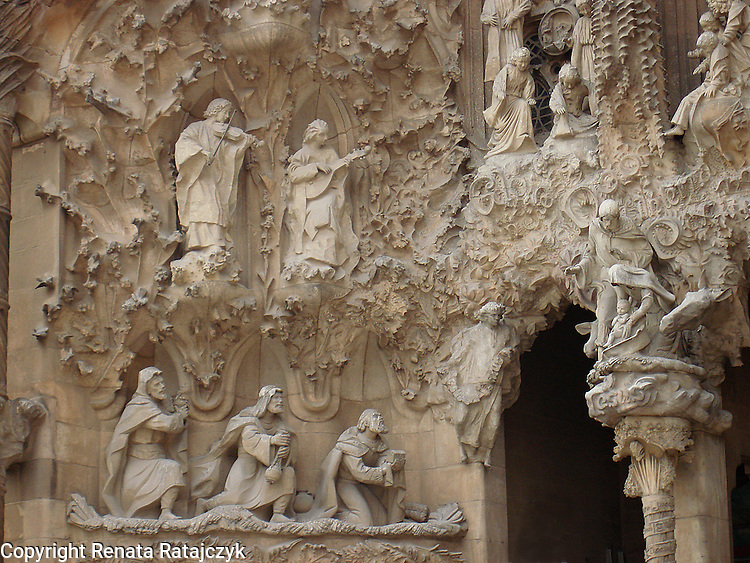 Nativity Facade, Sagrada Familia Church, Barcelona, Spain