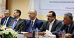 Palestinian Prime Minister, Rami Hamdallah, attends a Celebrating the completion of the rehabilitation project of electricity networks, in the West bank city of Ramallah, on February 14, 2018. Photo by Prime Minister Office