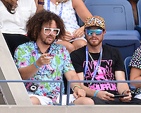 FLUSHING NY- SEPTEMBER 09: Red Foo is sighted watching Novak Djokovic Vs Gael Monfils during the mens semi finals on Arthur Ashe Stadium at the USTA Billie Jean King National Tennis Center on September 9, 2016 in Flushing Queens. Credit: mpi04/MediaPunch
