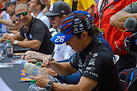 Verizon IndyCar Series<br /> Indianapolis 500 Drivers Meeting<br /> Indianapolis Motor Speedway, Indianapolis, IN USA<br /> Saturday 27 May 2017<br /> Driver's autograph session: Takuma Sato, Andretti Autosport Honda<br /> World Copyright: F. Peirce Williams