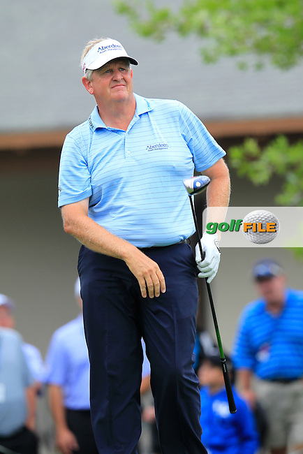 Colin Montgomerie (SCO) tees off the 10th tee during Friday's Round 2 of the 2014 PGA Championship held at the Valhalla Club, Louisville, Kentucky.: Picture Eoin Clarke, www.golffile.ie: 8th August 2014