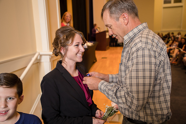Kalyn Gamble Midway Nurses Pinning , Friday Dec. 15, 2017  in Midway, Ky. Photo by Mark Mahan
