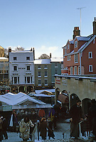 Norwich: Norwich Market--covered booths.