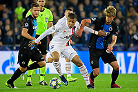 Charles De Ketelaere midfielder of Club Brugge battles for the ball with Kylian Mbappe forward of PSG  <br /> Bruges 22-10-2019 <br /> Club Brugge - Paris Saint Germain PSG <br /> Champions League 2019/2020<br /> Foto Panoramic / Insidefoto <br /> Italy Only