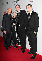 US producer Gary Shapiro (left) arrives with his artist wife Jane Goren and Czech producers Krystof Mucha and Karel Och (right) at the NBC/Universal Pictures/Focus Features Golden Globes after party at the Beverly Hilton Hotel, Beverly Hills, California, USA, on January 11, 2009.  The Golden Globes honour excellence in film and television.