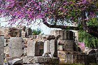 Olympia, Greece. The site of the Olympic Games in classical times. The Temple of Zeus.