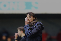 Frustration for Crawley Town manager Gabriele Cioffi during Crawley Town vs Morecambe, Sky Bet EFL League 2 Football at Broadfield Stadium on 16th November 2019