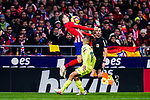Santiago Arias of Atletico de Madrid (L) controls the ball during the La Liga 2018-19 match between Atletico Madrid and FC Barcelona at Wanda Metropolitano on November 24 2018 in Madrid, Spain. Photo by Diego Souto / Power Sport Images