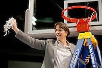 SPOKANE, WA - MARCH 28, 2011: Tara VanDerveer at the Stanford Women's Basketball vs Gonzaga, NCAA West Regional Finals at the Spokane Arena on March 28, 2011.