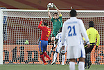 21 JUN 2010: Iker Casillas (ESP). The Spain National Team defeated the Honduras National Team 2-0 at Ellis Park Stadium in Johannesburg, South Africa in a 2010 FIFA World Cup Group H match.