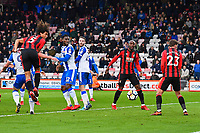 Nathan Ake of AFC Bournemouth (5) heads towards goal during AFC Bournemouth vs Wigan Athletic, Emirates FA Cup Football at the Vitality Stadium on 6th January 2018