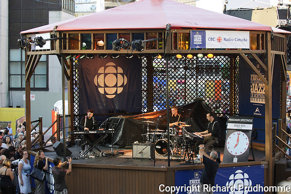 One of the smaller stages at the Montreal International Jazz Festival