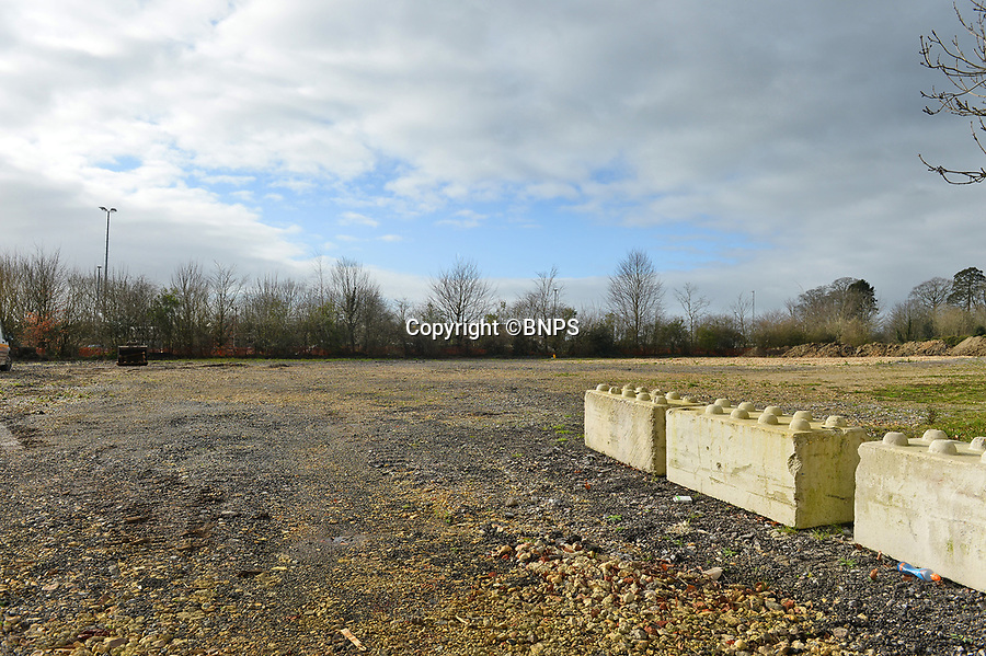 BNPS.co.uk (01202 558833)<br /> Pic: BNPS<br /> <br /> Pictured: Shaftesbury cattle market was recently demolished, the supermarket Lidl are waiting for plannning permission to build a new store.<br /> <br /> These charming photos reveal everyday life at the turn of the 20th century in a thriving market town later made famous by a TV advert.<br /> <br /> The black and white snapshots of Shaftesbury, Dorset, were taken by Albert Tyler who set up a photography business there in 1901.<br /> <br /> There are various street scenes and also images of the locals in traditional attire, with men in flatcaps and women in bonnets.<br /> <br /> Tyler photographed the busy opening of the town market in 1902, and a garden party where men played croquet.