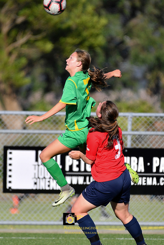 National Age Group Tournament - U16 Girls Central v WaiBOP at Petone Memorial Park, Lower Hutt, New Zealand on Wednesday 12 December 2018. <br />