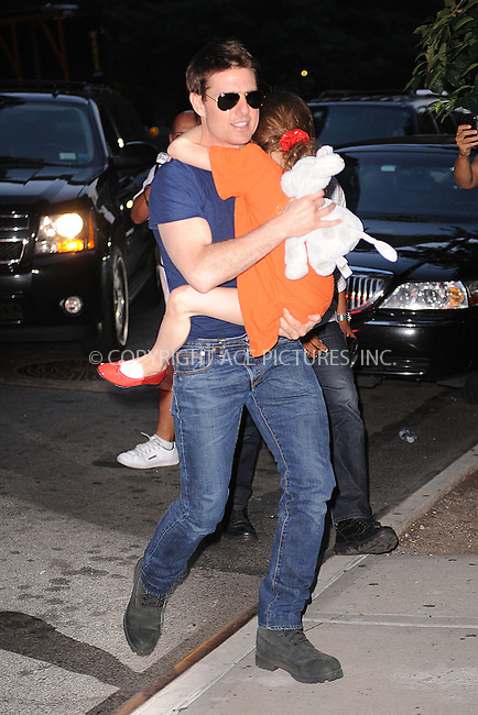WWW.ACEPIXS.COM . . . . . .July 17, 2012...New York City....Tom Cruise and Suri leave Chelsea Piers on July 17, 2012 in New York City. ....Please byline: KRISTIN CALLAHAN - WWW.ACEPIXS.COM.. . . . . . ..Ace Pictures, Inc: ..tel: (212) 243 8787 or (646) 769 0430..e-mail: info@acepixs.com..web: http://www.acepixs.com .