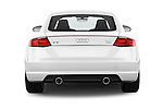 Straight rear view of 2015 Audi TT Coupe S Line 3 Door Coupe Rear View  stock images