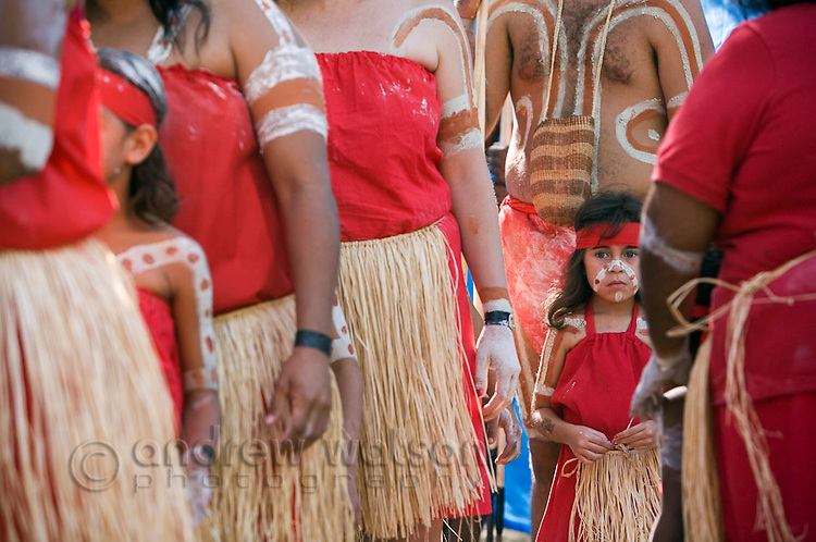 Young indigenous dancer at the Laura Aboriginal Dance Festival.  Laura, Queensland, Australia