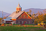 An autumn sunset  in Cambridge, VT, USA