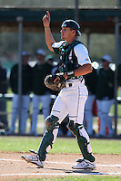 February 28, 2010:  Catcher Andrew Longley of the South Florida University Bulls during the Big East/Big 10 Challenge at Raymond Naimoli Complex in St. Petersburg, FL.  Photo By Mike Janes/Four Seam Images
