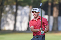 Patrick Cantlay (USA) watches his approach shot on 18  during round 1 of the World Golf Championships, Mexico, Club De Golf Chapultepec, Mexico City, Mexico. 3/1/2018.<br /> Picture: Golffile | Ken Murray<br /> <br /> <br /> All photo usage must carry mandatory copyright credit (&copy; Golffile | Ken Murray)