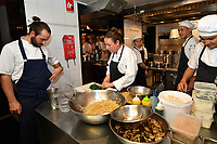 MELBOURNE, 30 June 2017 – Sasha Randle prepares ingredients for a dinner celebrating Philippe Mouchel's 25 years in Australia with six chefs who worked with him in the past at Philippe Restaurant in Melbourne, Australia.