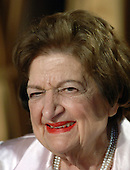 Helen Thomas, a White House correspondent for several decades, attends the White House Correspondents' Association Dinner in Washington on April 29, 2006.    (UPI Photo/Roger L. Wollenberg)..