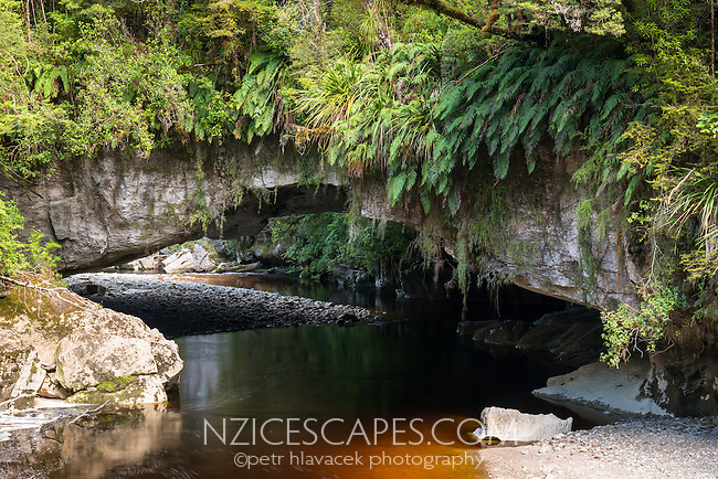 Moria Gate, limestone formation with Oparara River, Kahurangi National Park, Buller Region, West Coast, New Zealand, NZ