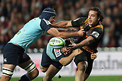 June 3rd 2017, FMG Stadium, Waikato, Hamilton, New Zealand; Super Rugby; Chiefs versus Waratahs;  Chiefs winger James Lowe gets an offload away during the Super Rugby rugby match