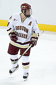 Mike Brennan of Smithtown, New York is one of two alternate captains for the Boston College Eagles.  The junior defenseman played in every game in both his freshman and sophomore seasons. The Eagles of Boston College defeated the Falcons of Bowling Green State University 5-1 on Saturday, October 21, 2006, at Kelley Rink of Conte Forum in Chestnut Hill, Massachusetts.<br />