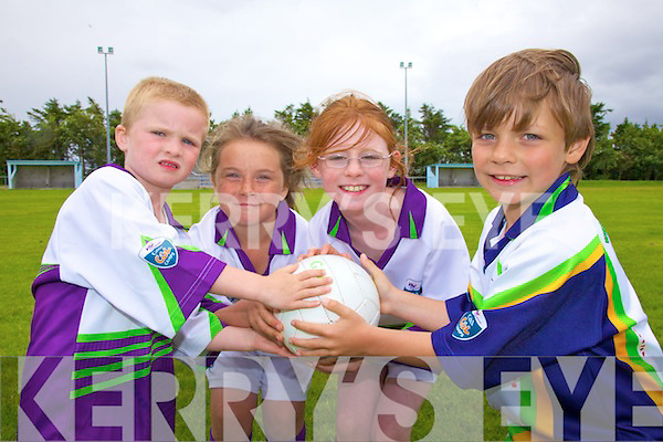 At the VHI Cu?l Camp in Renard GAA Grounds last week were l-r; Jack Butler, Mairead Murphy, Ro?isi?n McElligott & Sammy Behirens.