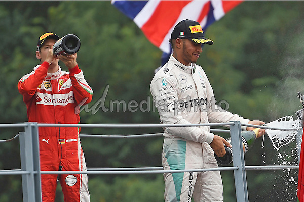 03 September 2016 - Monza - Lewis Hamilton, Sebastian Vettel, Formula 1 GP. Photo Credit: Melzer/face to face/AdMedia