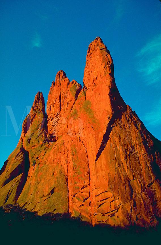 A red rock formation in the Garden of the Gods. Colorado Springs, Colorado.